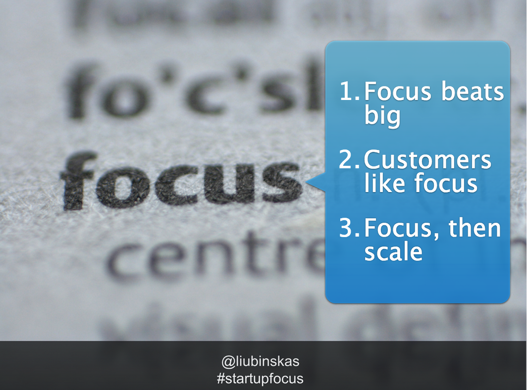 Focus - Slides from Mick Liubinskas