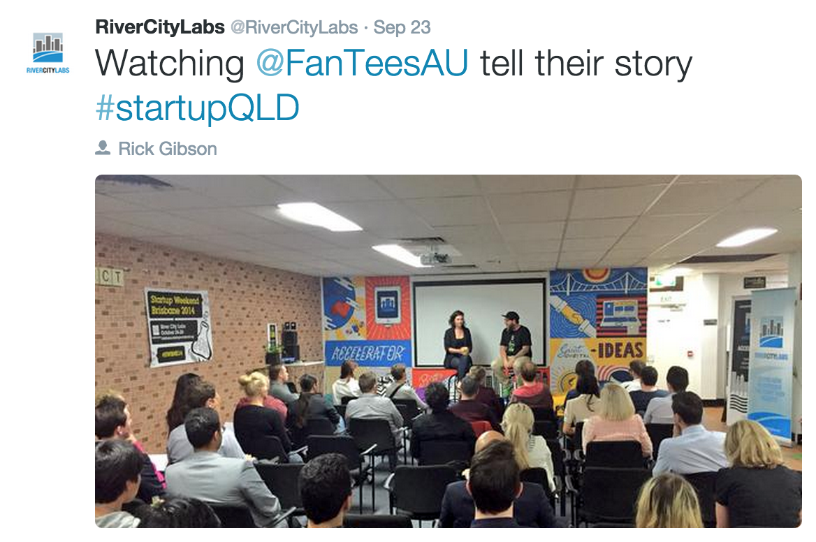 FanTees at Fashion & E-Commerce Meetup at River City Labs