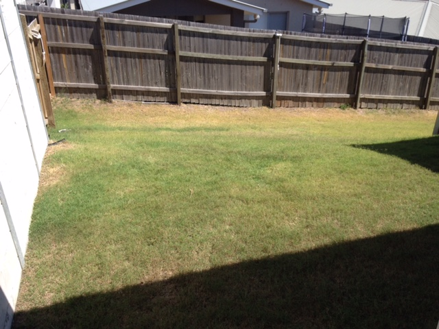 """Before"" photo of Waterford lawn care services © GreenSocks"