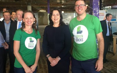 GreenSocks meets Premier Annastacia Palaszczuk © GreenSocks - Richard Eastes - Andrea Martins