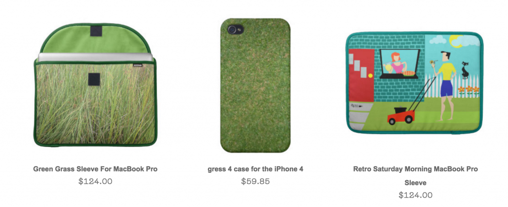 Lawn mowing accessories on Zazzle