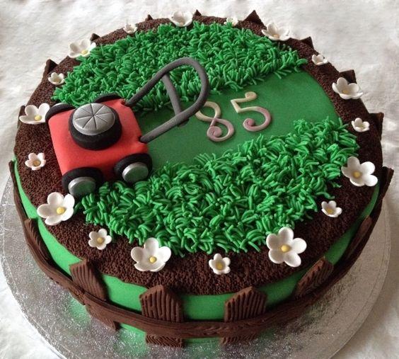 10 Best Lawn Mower Cakes On Pinterest Greensocks