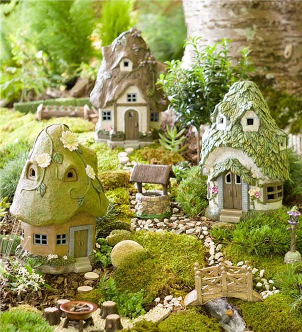 Miniature Fairy Cottages https://www.trulygeeky.com/miniature-fairy-garden-ideas/